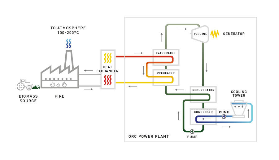 exergy biomass orc cycle